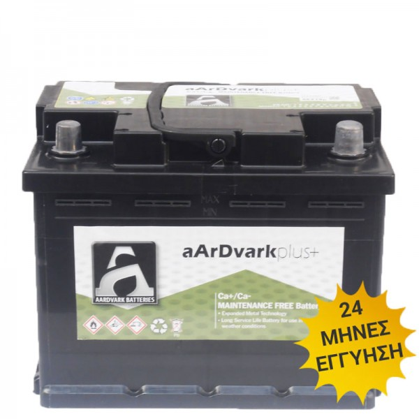Μπαταρία AARDVARK plus+ 56030 60AH 510A 242mm x 175mm x 190mm