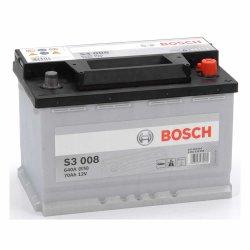 Μπαταρία Αυτοκινήτου BOSCH S3008 70AH 640A 278mm x 175mm x 190mm