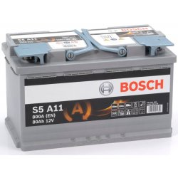 Μπαταρία Αυτοκινήτου AGM Start-Stop BOSCH S5A11 80Ah