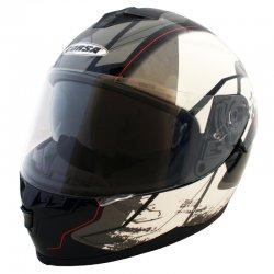 Κράνος Corsa DVS CN220 Μαύρο-Λευκο-Γκρί