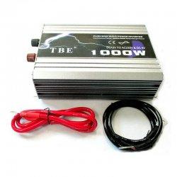 Inverter Καθαρού ημιτόνου DC 12V σε AC 220V με USB TBE 1000W