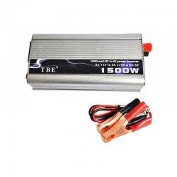 Inverter τροποποιημένου ημιτόνου DC 12V σε AC 220V με USB TBE 1500W