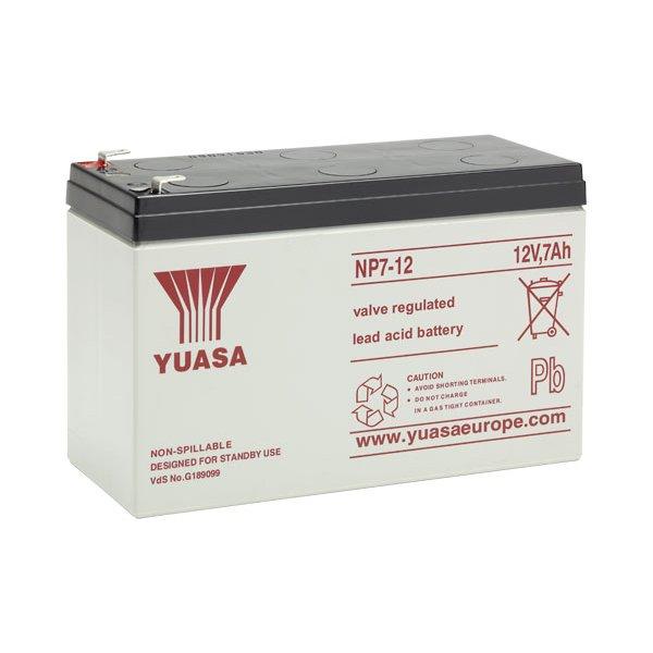 Μπαταρία  YUASA VRLA - AGM 12V 7Ah (NP7 - 12)