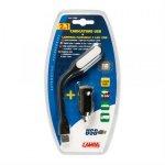 Φορτιστής USB και Φακός LED 2 σε 1 Lampa 71988