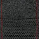 Κάλυμμα τιμονιού δερμάτινο ραφτό Sport Μαύρο-Κόκκινο Lampa 32999