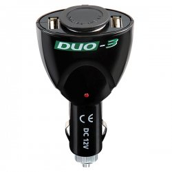 Aντάπτορας αναπτήρα με 2 εξόδους USB Lampa 39047