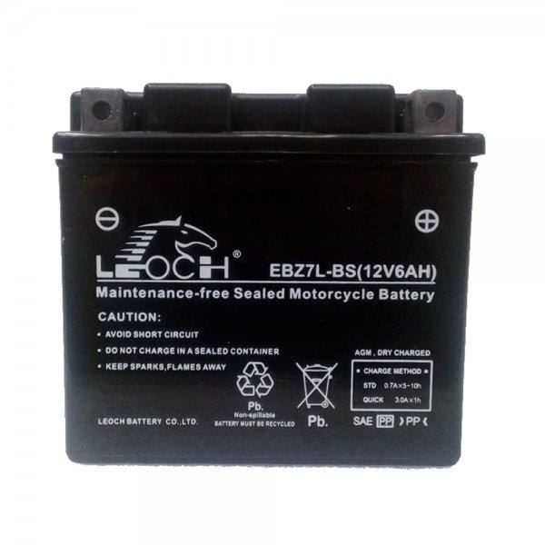 Μπαταρία MOTO Leoch EBZ7L-BS 6Ah (YTZ7L-BS, TTZ7S-BS, TTZ7S-4, GTZ7S-BS, YTZ7S, YTZ-7S) AGM