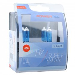 Λάμπες H7 M-Tech 12V 55W Powertec Superwhite 2τμχ