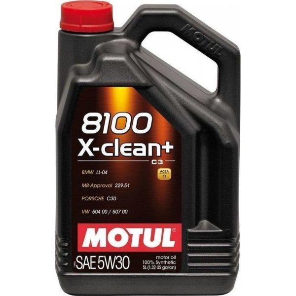 Λιπαντικό Motul 8100 X-Clean+ C3 5W-30 5lt