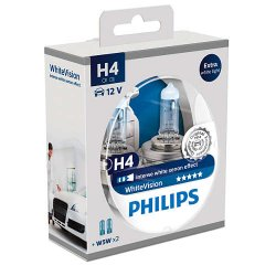 Λάμπες Philips White Vision H4