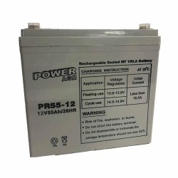Μπαταρία ΕΠΑΝΑΦΟΡΤΙΖΟΜΕΝΗ Power PR55-12 12V 55Ah VRLA - AGM